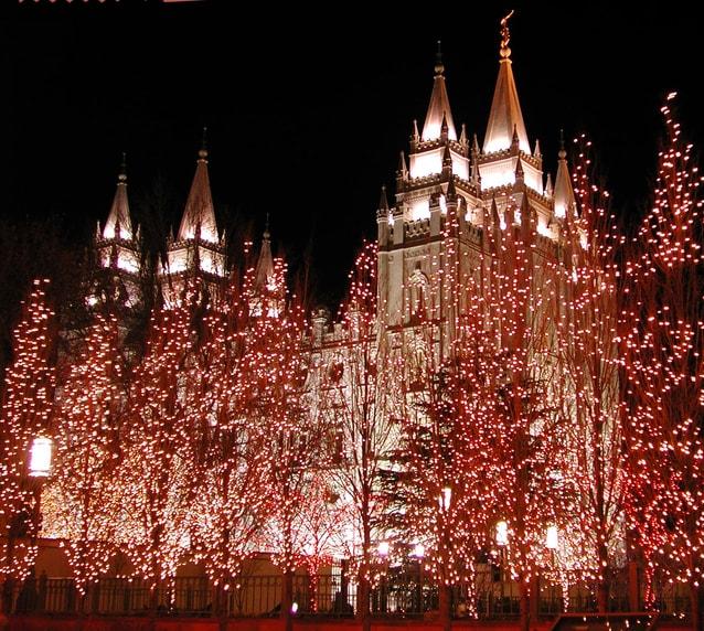 Mormon Temple - Christmas - Salt Lake City
