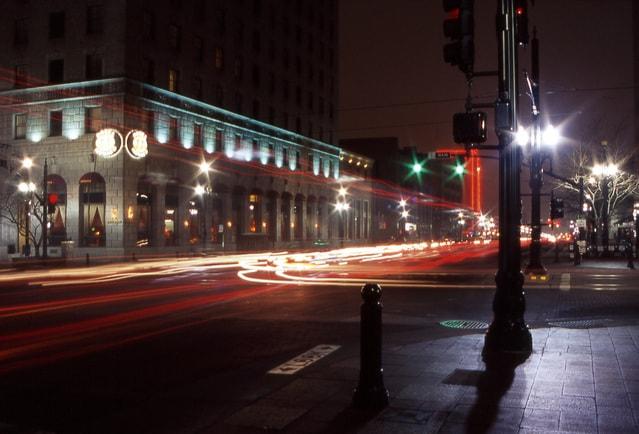 Downtown Salt Lake City At Night