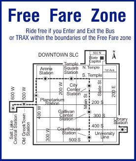 UTA Free Fare Zone