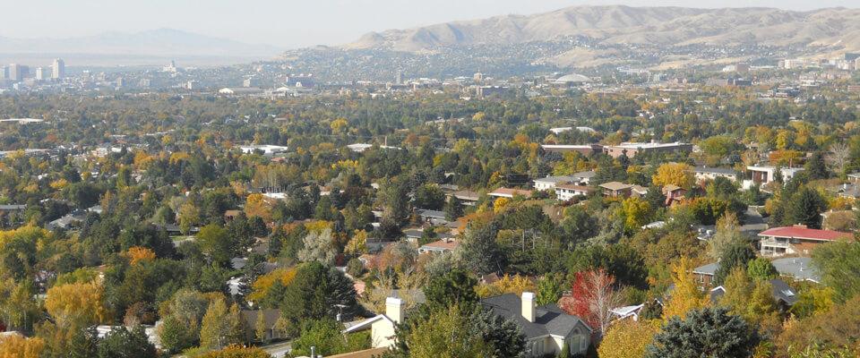 View of Salt Lake's East Bench Neighborhood