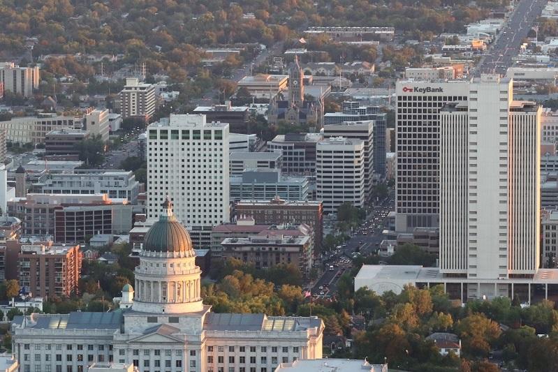 Utah Capitol Above