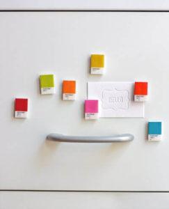 DIY paint chip magnets
