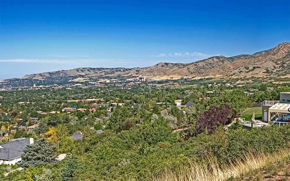 View from Salt Lake's wealthy East Bench neighborhood