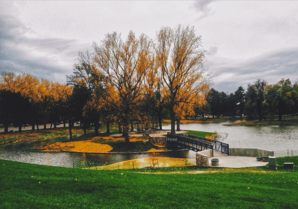 Pond in Liberty Park in Salt Lake City