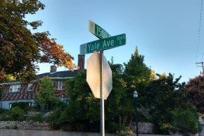 Yalecrest stop sign