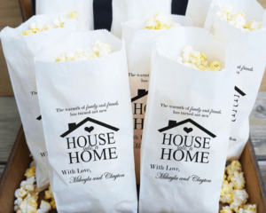 Custom Popcorn Bag Housewarming Gift