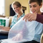 wrapping pictures in bubble wrap