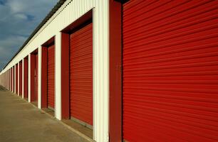 Public storage facility garage doors