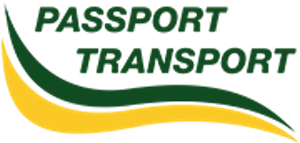 passport transport car shipping logo