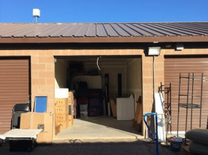 U-Haul self-storage unit full of home goods