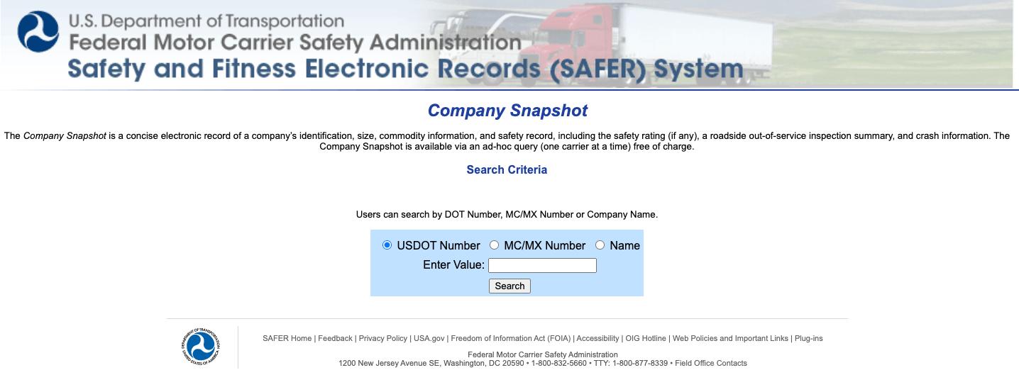 FMCSA database