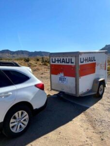 U-Haul moving trailer